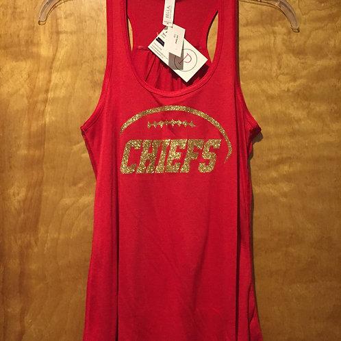 KC Chiefs glitter tank