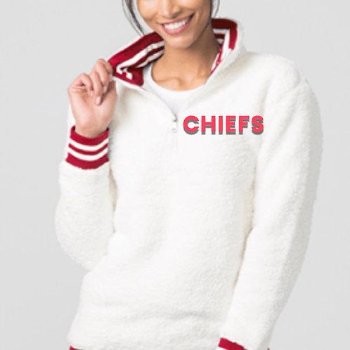 Varsity 3/4 Zip Pullover - Sherpa