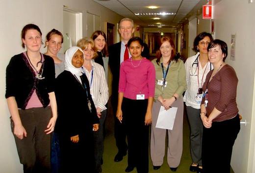 At Royal Women's Hospital, Melbourne