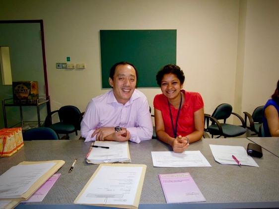 With Dr. SC Quek, SIngapore
