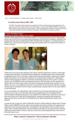 My IGCS fellowship in Canada