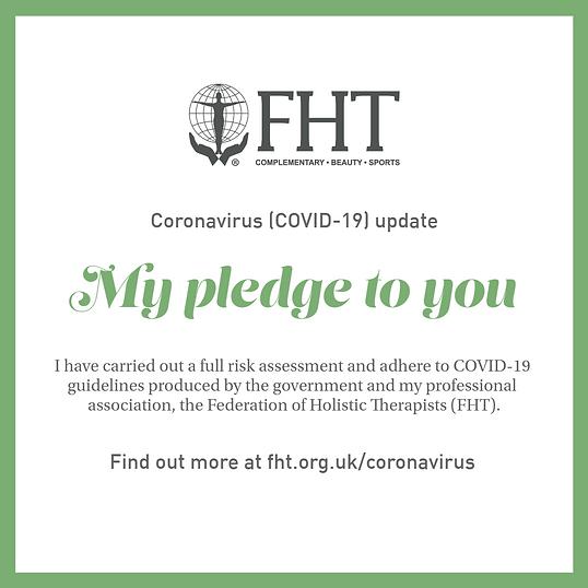 Coronavirus (COVID-19) pledge update