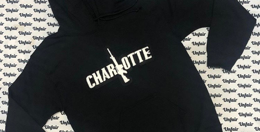 Black Charlotte Hoodie
