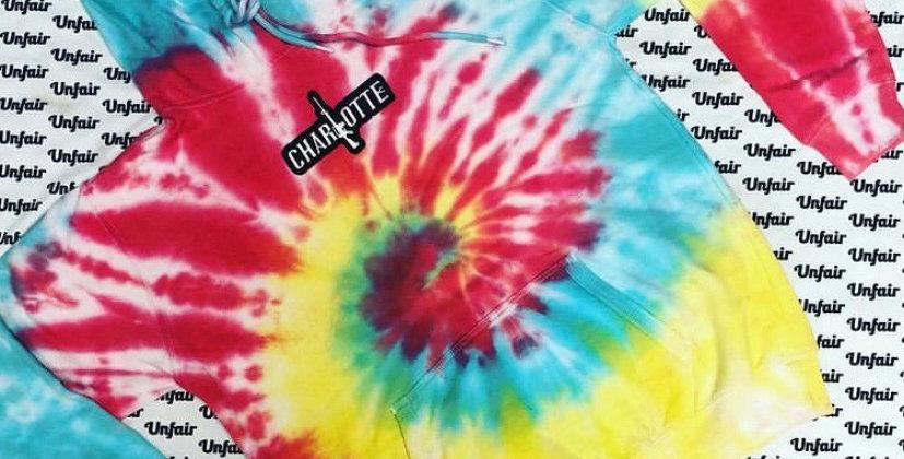 Tie Dye Hoodie Bright