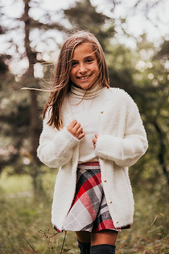 Cardigan en tricot doux Blanc cassé - Carrément Beau