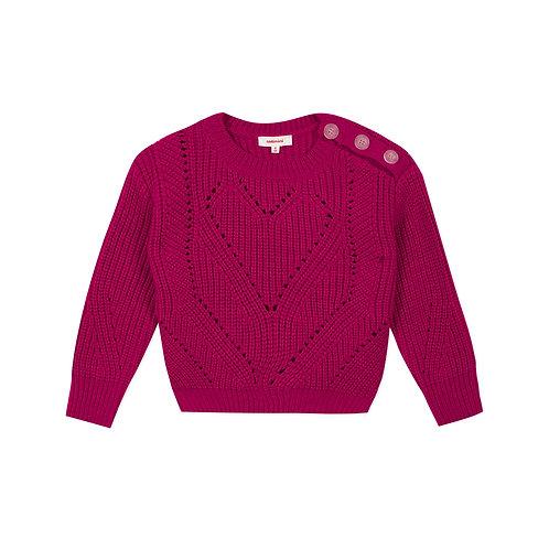 Pull en tricot fushia - Catimini