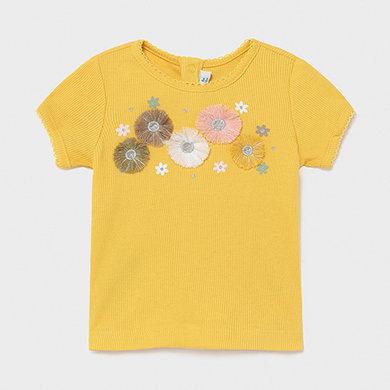 Haut moutarde fleur-Mayoral