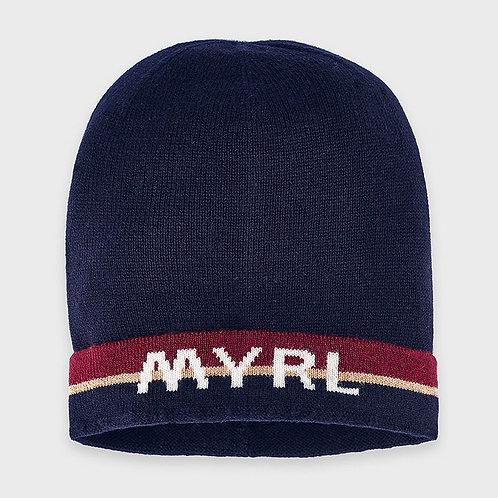 Chapeau en tricot tricolore - Mayoral