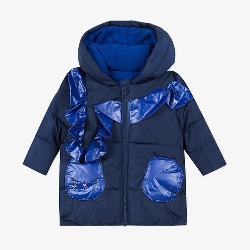 Manteau doublé en molleton couleur Indigo - Catimini