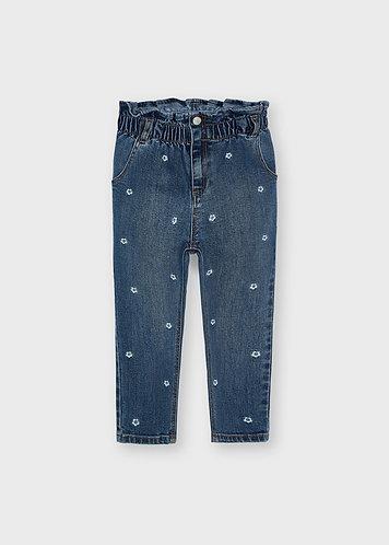 Pantalon slouchy fleurs-Mayoral