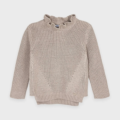 Pull en tricot beige lurex - Mayoral