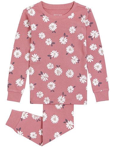 Pyjama fleuri rose-Petit Lem