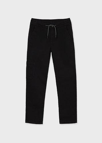 Pantalon jogger noir-Mayoral
