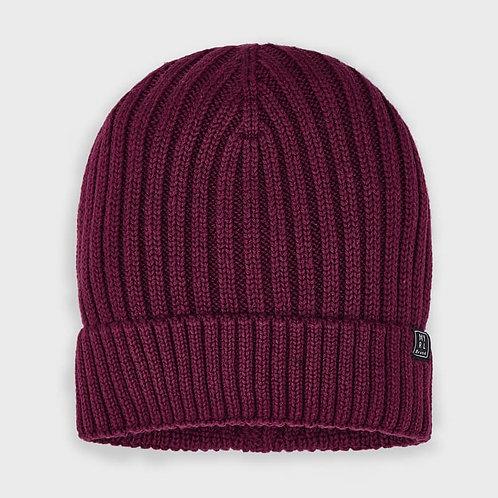 Chapeau en tricot bourgogne - Mayoral