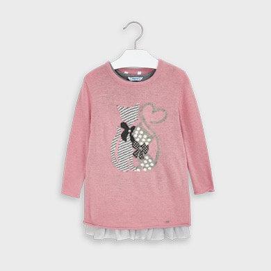 Robe tricot à motif de chat - Mayoral
