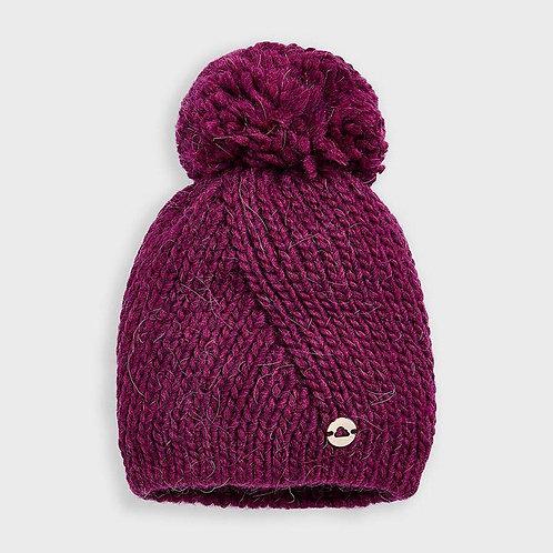 Bonnet en tricot cerise-Mayoral