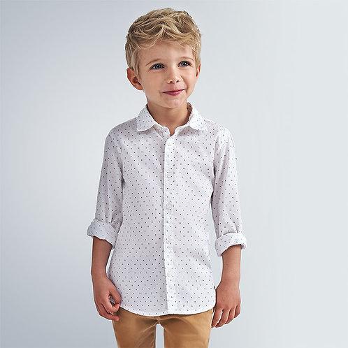 Chemise blanche avec imprimé - Mayoral