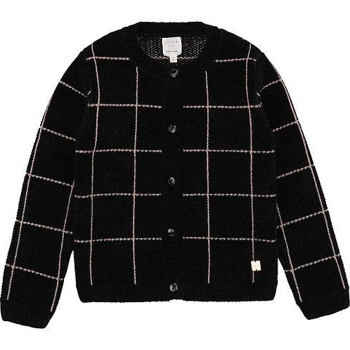 Cardigan en tricot à carreaux - Carrément Beau