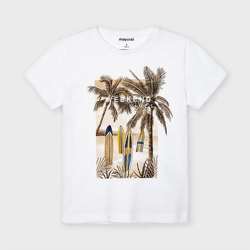 Haut blanc palmiers-Mayoral