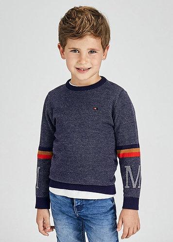 Pull en tricot marine-Mayoral