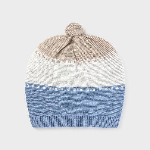 Bonnet tricot ciel-Mayoral