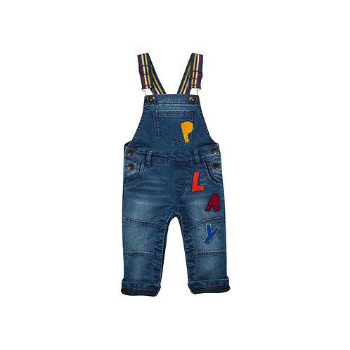 Salopette en jeans avec broderie - Catimini