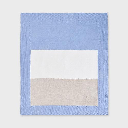 Couverture en tricot bleu céleste-Mayoral