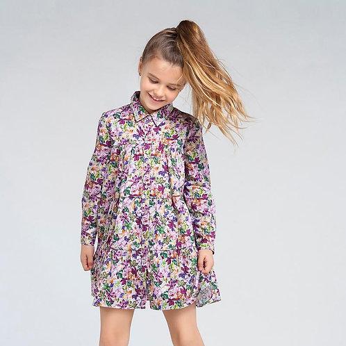 Robe popeline imprimé floraux-Mayoral