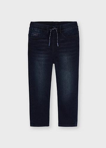 Pantalon soft jogger bleu/noir-Mayoral