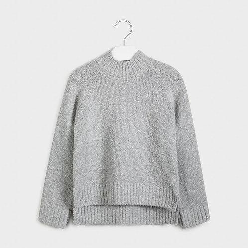Pull gris avec paillettes - Mayoral