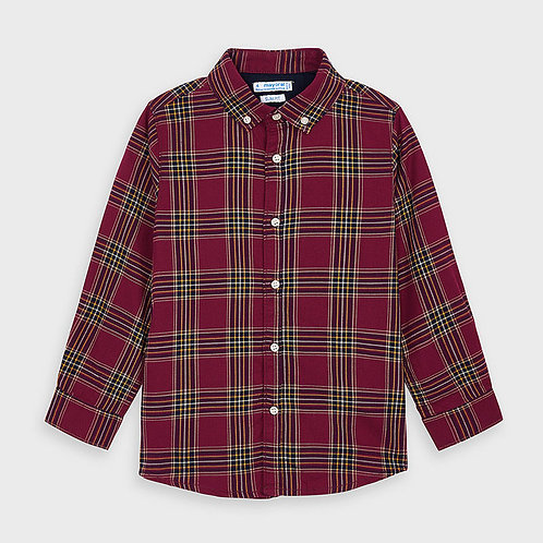 Chemise à carreaux bourgogne - Mayoral