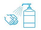 長野市こやま整骨院では患者ごと手指ベッド器具のアルコール消毒を行います。