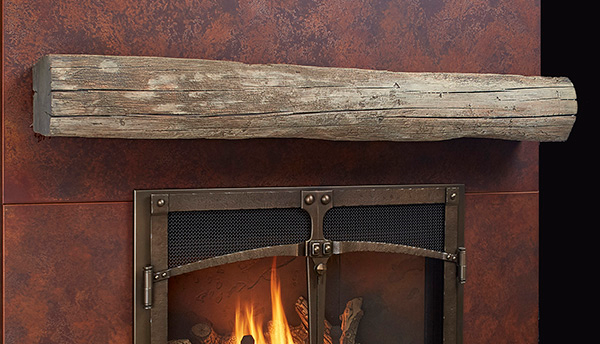 HEWN TIMBER MANTEL