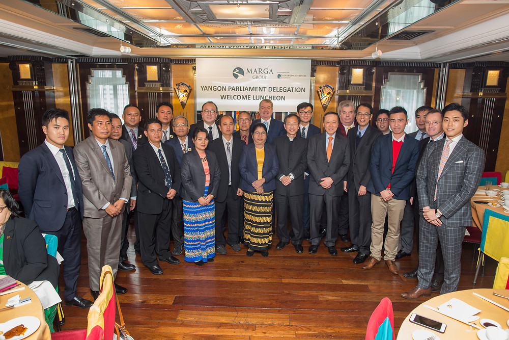 Group photo with members of GPY, Marga Group and the visiting delegation from of delegation from the Yangon Region Hluttaw