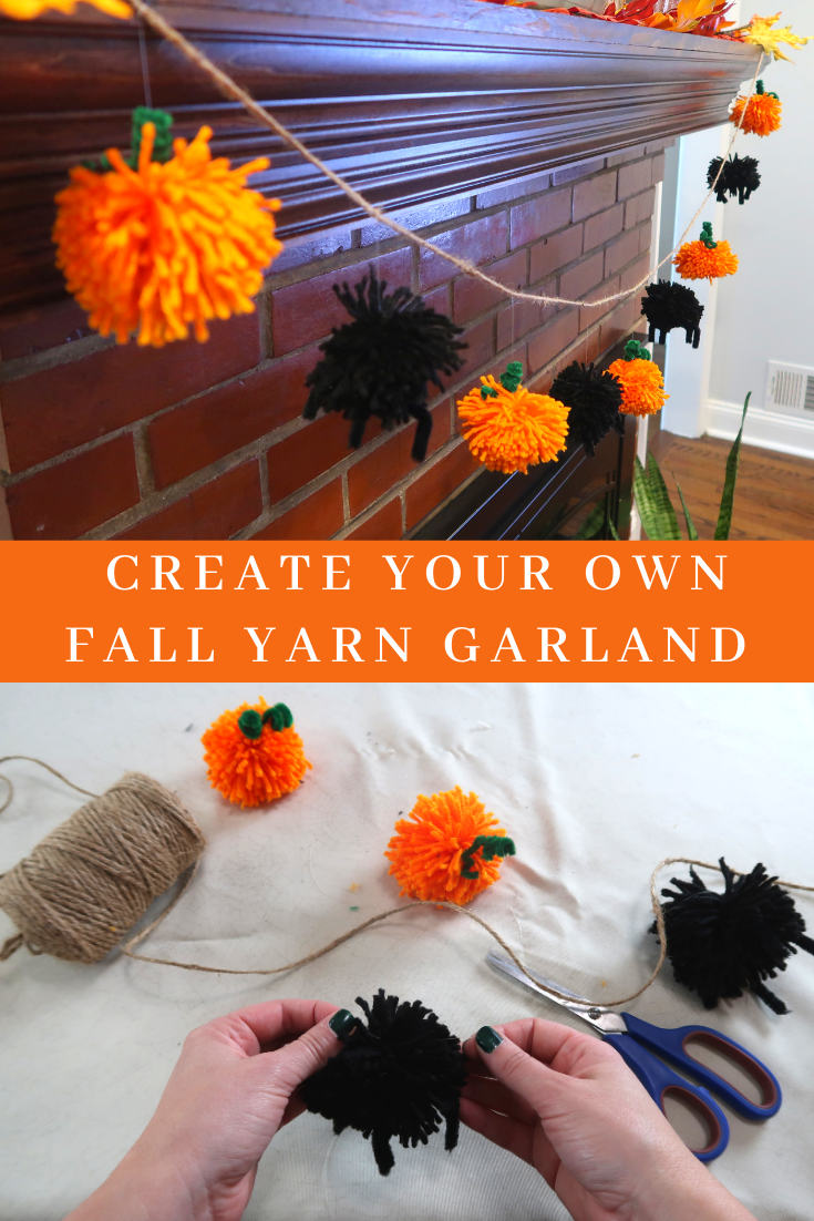 Halloween And Pumpkin Pom Pom Garland