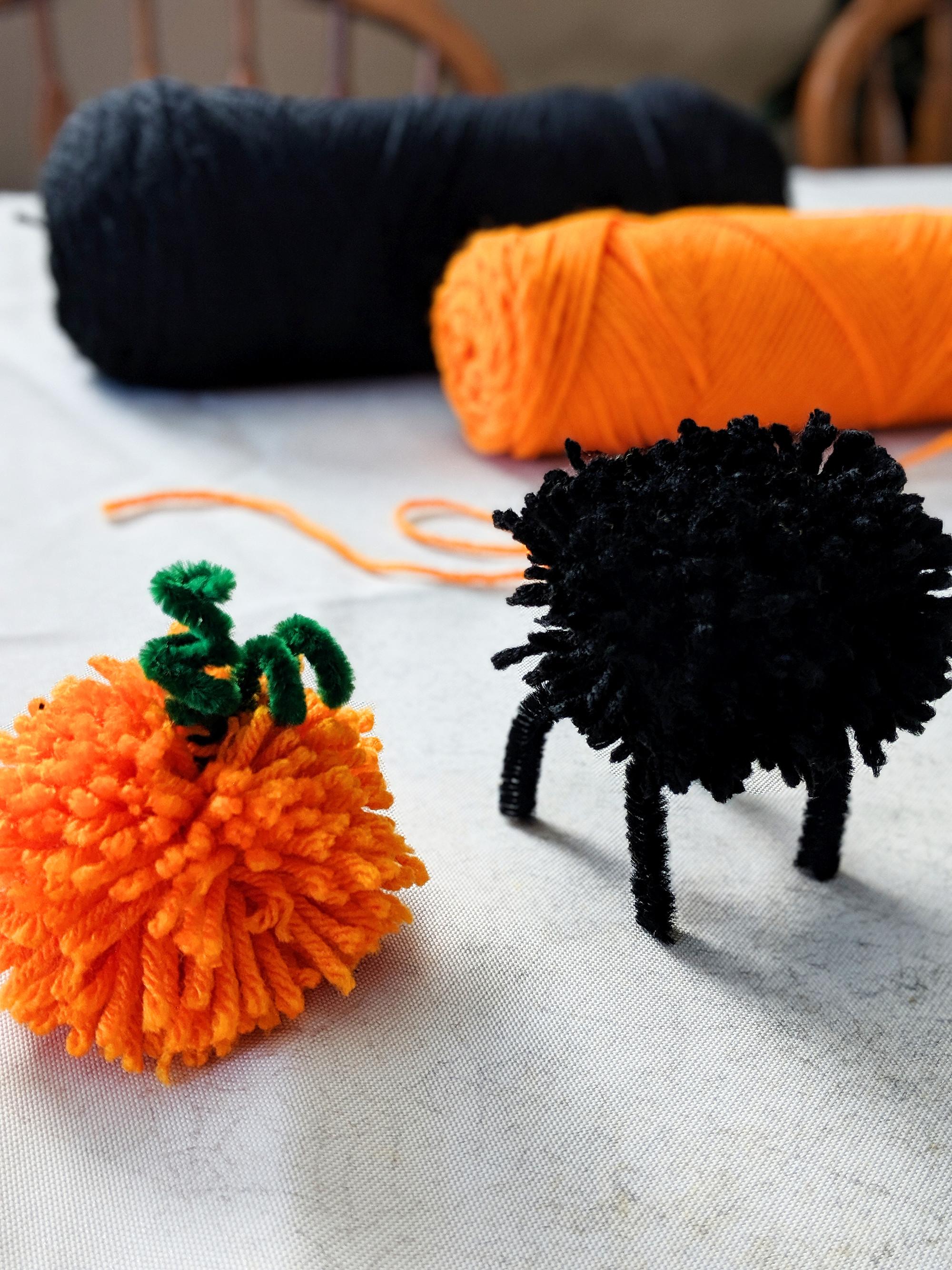 Halloween And Pumpkin Pom Pom Garland