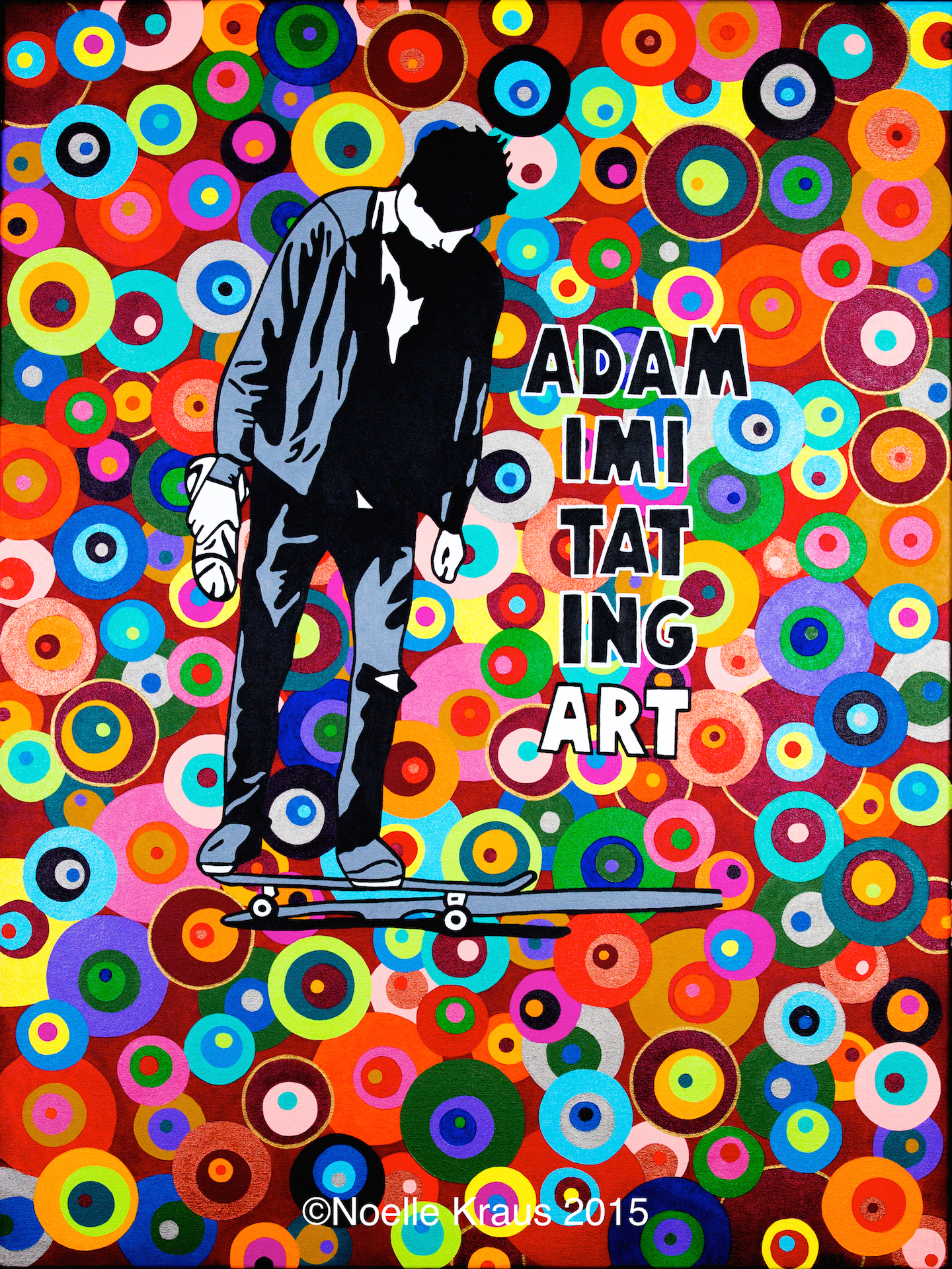 Adam Imitating Art Poster