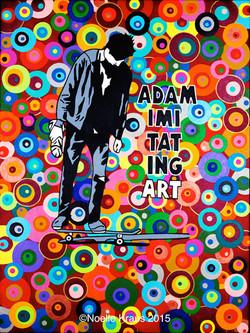 Adam Imitating Art Poster