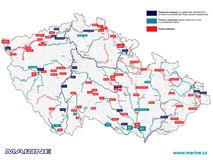 Aktualizovaná mapa, kde se smí plout se spalovacím motorem