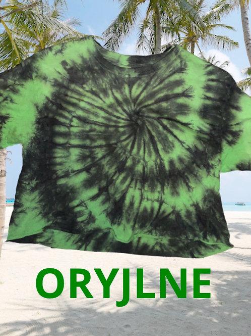 Tie dye Green/blk Croptop