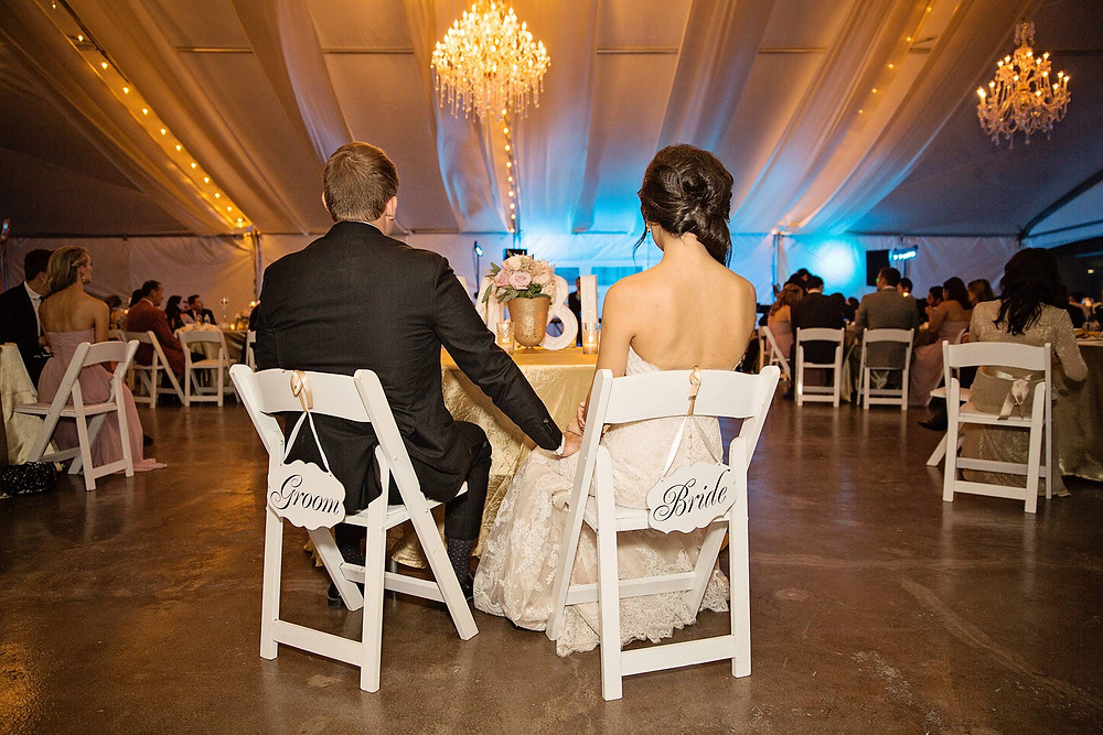 Bride and Groom in Harold Pavilion