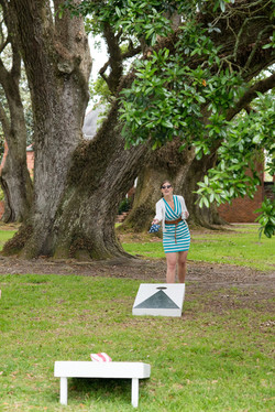 Lawn Games under the Oak Trees