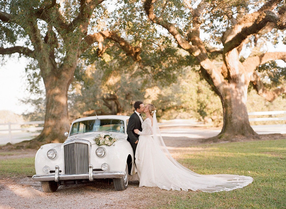 Rolls Royce under the oaks at Stella Plantation
