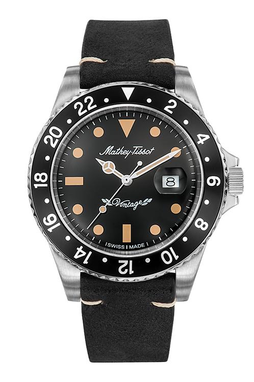Mathey-Tissot Vintage Automatic 40mm Black w/ Leather Strap