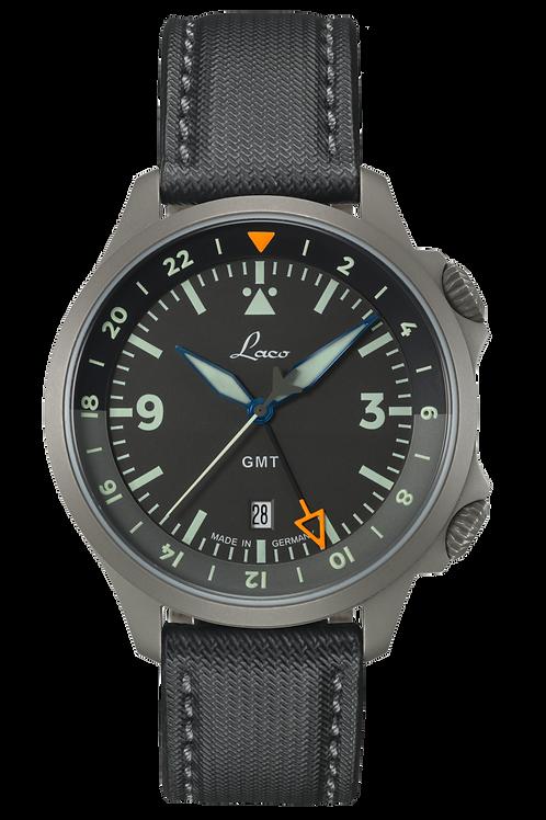Laco Pilot Watch Special - Frankfurt GMT Schwarz
