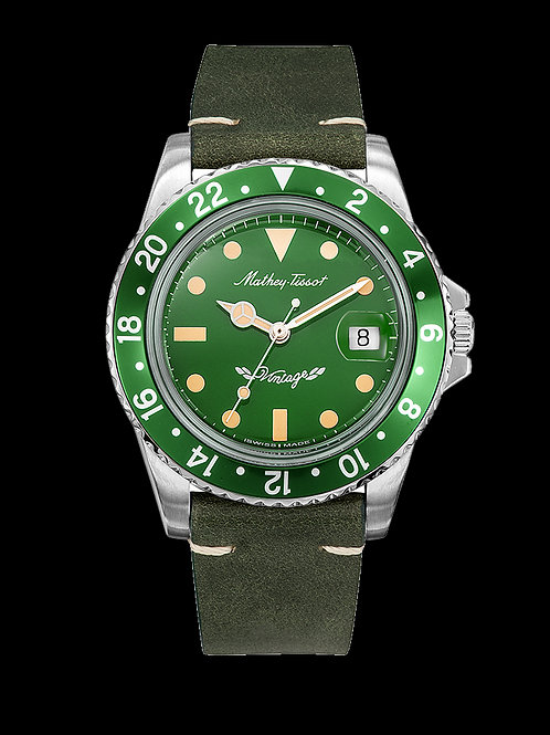 Mathey-Tissot Vintage Automatic 40mm Green w/ Leather Strap