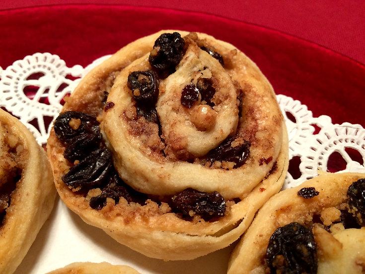 Raisin and Walnut Pinwheel Cookies 6 ea. tub