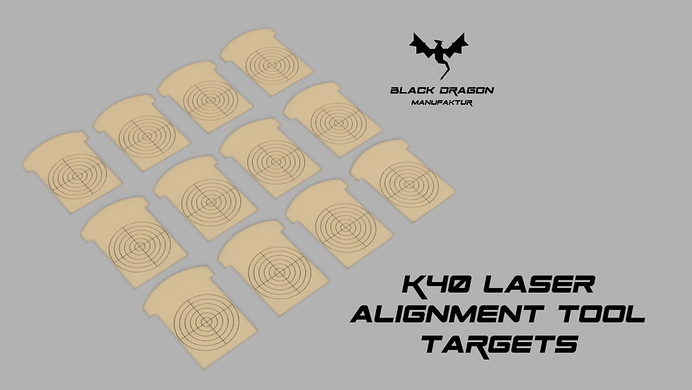 K40 Laser Alignment tool replacement targets