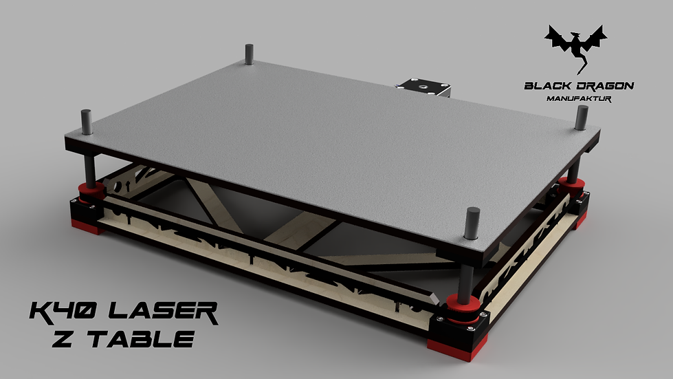K40 Laser 40W CO2 Laser Z Axis Adjustable bed Stepper Version