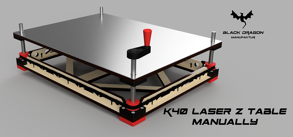 K40 Laser 40W CO2 Laser Z Axis Adjustable bed Manuelle Version
